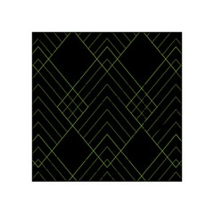 Diamond Green Triangle Line Black Chevron Wave Acrylic Tangram Puzzle (4  x 4 )