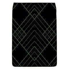 Diamond Green Triangle Line Black Chevron Wave Flap Covers (L)