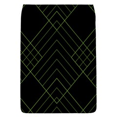 Diamond Green Triangle Line Black Chevron Wave Flap Covers (S)