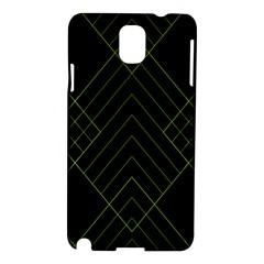 Diamond Green Triangle Line Black Chevron Wave Samsung Galaxy Note 3 N9005 Hardshell Case