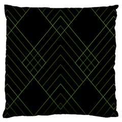 Diamond Green Triangle Line Black Chevron Wave Standard Flano Cushion Case (Two Sides)