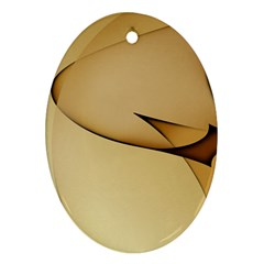 Edge Gold Wave Ornament (Oval)