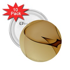 Edge Gold Wave 2.25  Buttons (10 pack)