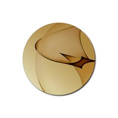 Edge Gold Wave Rubber Round Coaster (4 Pack)