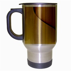 Edge Gold Wave Travel Mug (silver Gray)