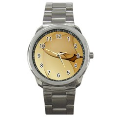 Edge Gold Wave Sport Metal Watch
