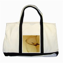 Edge Gold Wave Two Tone Tote Bag