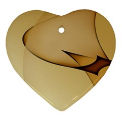 Edge Gold Wave Heart Ornament (Two Sides)