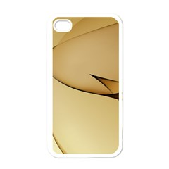 Edge Gold Wave Apple iPhone 4 Case (White)