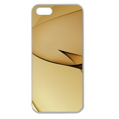 Edge Gold Wave Apple Seamless iPhone 5 Case (Clear)