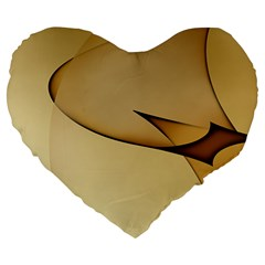 Edge Gold Wave Large 19  Premium Heart Shape Cushions
