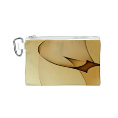 Edge Gold Wave Canvas Cosmetic Bag (S)