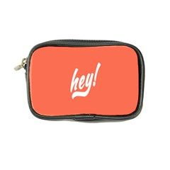 Hey White Text Orange Sign Coin Purse