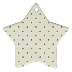 Green Spot Jpeg Ornament (Star)