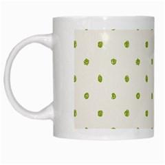 Green Spot Jpeg White Mugs
