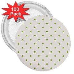 Green Spot Jpeg 3  Buttons (100 pack)