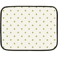 Green Spot Jpeg Fleece Blanket (Mini)