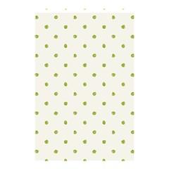 Green Spot Jpeg Shower Curtain 48  x 72  (Small)