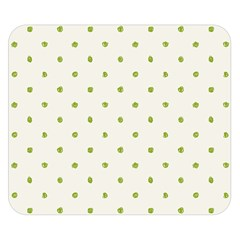 Green Spot Jpeg Double Sided Flano Blanket (Small)