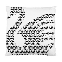 Honeycomb Swan Animals Black White Plaid Standard Cushion Case (one Side)
