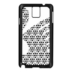 Honeycomb Swan Animals Black White Plaid Samsung Galaxy Note 3 N9005 Case (Black)