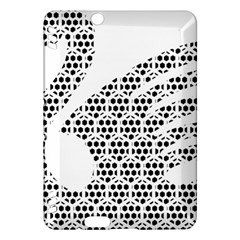 Honeycomb Swan Animals Black White Plaid Kindle Fire HDX Hardshell Case