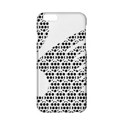 Honeycomb Swan Animals Black White Plaid Apple iPhone 6/6S Hardshell Case