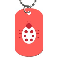 Little Butterfly Illustrations Beetle Red White Animals Dog Tag (one Side)