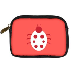 Little Butterfly Illustrations Beetle Red White Animals Digital Camera Cases