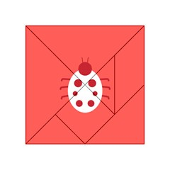 Little Butterfly Illustrations Beetle Red White Animals Acrylic Tangram Puzzle (4  x 4 )