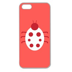 Little Butterfly Illustrations Beetle Red White Animals Apple Seamless iPhone 5 Case (Clear)