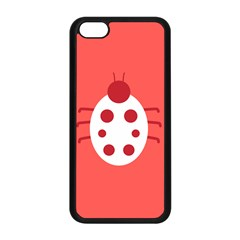 Little Butterfly Illustrations Beetle Red White Animals Apple iPhone 5C Seamless Case (Black)