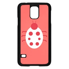 Little Butterfly Illustrations Beetle Red White Animals Samsung Galaxy S5 Case (Black)