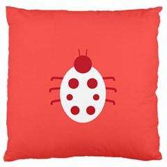 Little Butterfly Illustrations Beetle Red White Animals Standard Flano Cushion Case (One Side)
