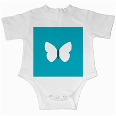 Little Butterfly Illustrations Animals Blue White Fly Infant Creepers
