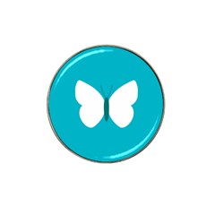 Little Butterfly Illustrations Animals Blue White Fly Hat Clip Ball Marker (4 pack)