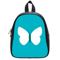 Little Butterfly Illustrations Animals Blue White Fly School Bags (Small)