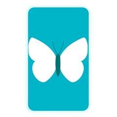 Little Butterfly Illustrations Animals Blue White Fly Memory Card Reader