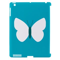 Little Butterfly Illustrations Animals Blue White Fly Apple iPad 3/4 Hardshell Case (Compatible with Smart Cover)