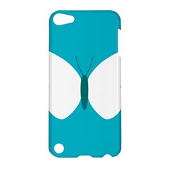 Little Butterfly Illustrations Animals Blue White Fly Apple Ipod Touch 5 Hardshell Case