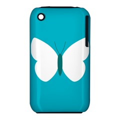Little Butterfly Illustrations Animals Blue White Fly iPhone 3S/3GS