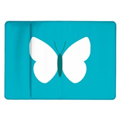 Little Butterfly Illustrations Animals Blue White Fly Samsung Galaxy Tab 10.1  P7500 Flip Case