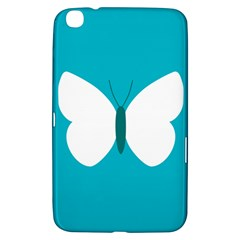 Little Butterfly Illustrations Animals Blue White Fly Samsung Galaxy Tab 3 (8 ) T3100 Hardshell Case