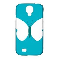 Little Butterfly Illustrations Animals Blue White Fly Samsung Galaxy S4 Classic Hardshell Case (PC+Silicone)