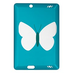 Little Butterfly Illustrations Animals Blue White Fly Amazon Kindle Fire HD (2013) Hardshell Case
