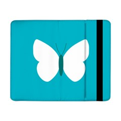 Little Butterfly Illustrations Animals Blue White Fly Samsung Galaxy Tab Pro 8.4  Flip Case