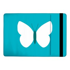 Little Butterfly Illustrations Animals Blue White Fly Samsung Galaxy Tab Pro 10.1  Flip Case