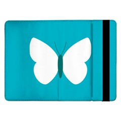 Little Butterfly Illustrations Animals Blue White Fly Samsung Galaxy Tab Pro 12.2  Flip Case