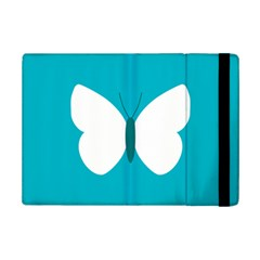 Little Butterfly Illustrations Animals Blue White Fly iPad Mini 2 Flip Cases