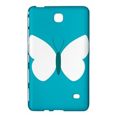 Little Butterfly Illustrations Animals Blue White Fly Samsung Galaxy Tab 4 (7 ) Hardshell Case